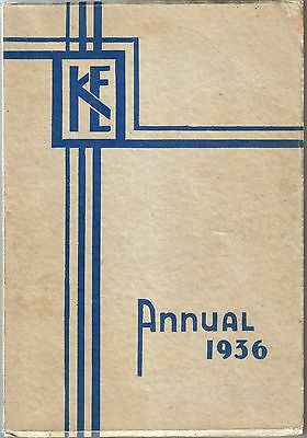 High School Yearbook Vancouver 1936 King Edward British Columbia Canada Canadian