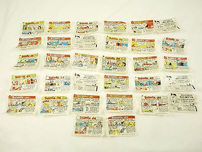 Lot of BAZOOKA JOE And His Gang Comics Bubble Gum Wrapper Comics