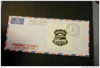 GB Great Britain strike mail World Couriers 1 pound cancelled 19 Feb 1971