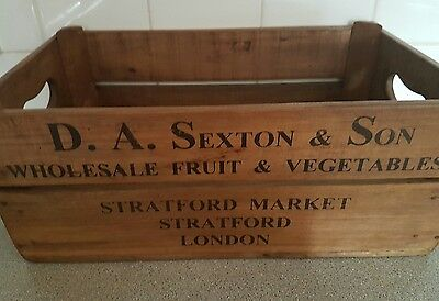 Rustic Vintage Style Industrial Shabby Chic Wooden Box Trug Crate