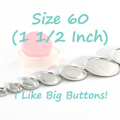 10 Buttons 38mm Self Cover SHANK  Back  DIY Button Size 60 win tool set