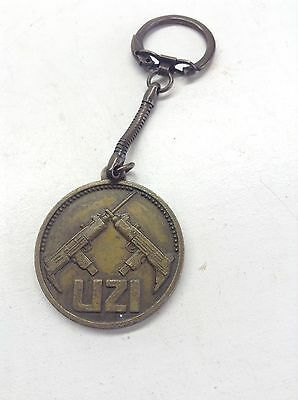 Vintage Action Arms Ltd. Uzi Gun Metal Keychain Key Ring