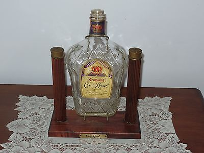 Vintage Crown Royal Whiskey EMPTY Bottle Swing Cradle Dispenser Display Stand