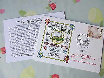 MANCHESTER United v CHELSEA 1997 Charity Shield FOOTBALL First Day Cover