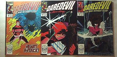 Daredevil #254, 255, 256 (1988, Marvel) 1st 3 appearances Typhoid Mary VF/NM