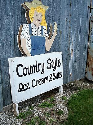 Vintage Country Style Ice Cream sign