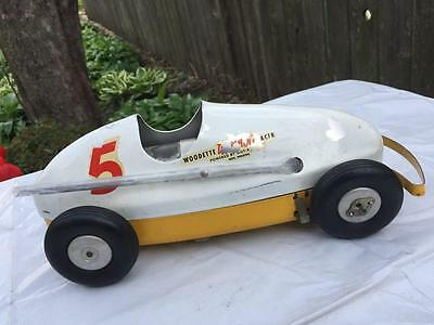 Vintage Woodette Tornado Racer Air Powered Race Tether Car Aluminum body