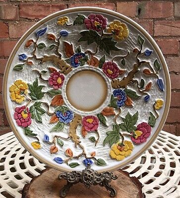 Large H.J.Wood Indian Tree Handpainted Plate Charger Platter Display Plate