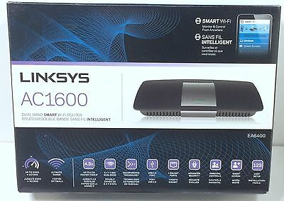 Linksys AC1600 Dual Band Smart Wi-Fi Router EA6400 In Box W/ Power Adapter