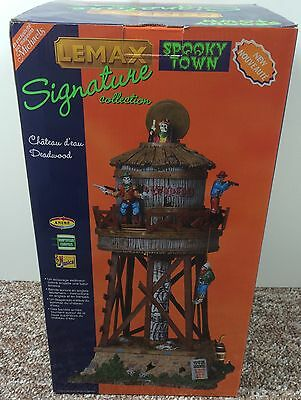Lemax Spooky Town Deadwood Water Tower Signature Collection New In Open Box