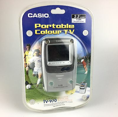 "Portable Handheld Casio 2.3"" Lsd Screen Pocket Color Television Tv-970 Colour Tv"