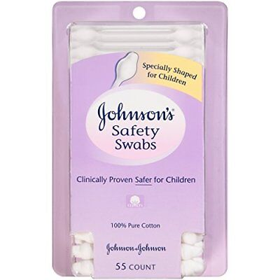 JOHNSON'S Safety Swabs 55 EA (6 Packs)