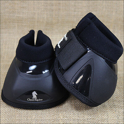 Classic Equine Horse No Turn Pro Tech Bell Boot Black Medium