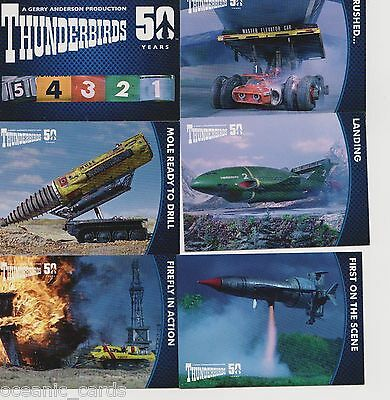 Thunderbirds 50 Years Trading Cards Base Set Of Trading Cards