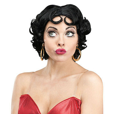 Womens Betty Boop Halloween Costume Accessory Wig