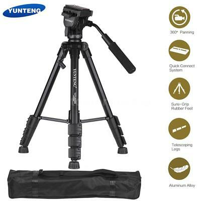 Heavy Duty Tripod Stand Fluid Pan & Tilt Head Kit for DSLR Camera Camcorder U3B2