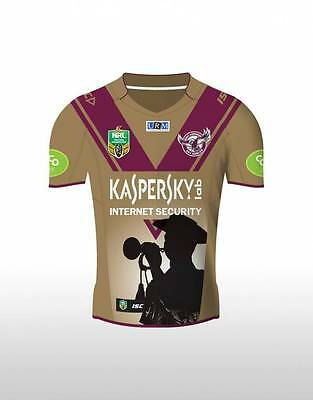Manly Sea Eagles NRL ISC ANZAC Day Jersey Size Medium & Kids 10 ONLY! 5