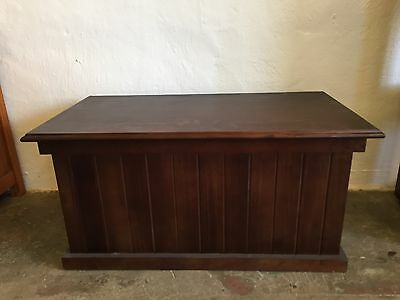 Pine Timber Stained Blanket Box Brand New Fully Assembled Australian Made