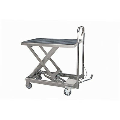 Rolling Table Cart Hydraulic Lift Cart w/Foot Pump Dolly Tools Heavy Duty