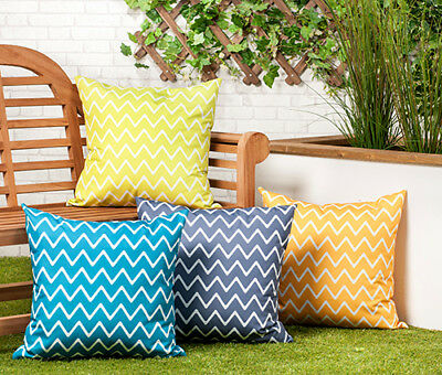 """24"""" Large Outdoor Water Resistant Garden Furniture Scatter Cushions Zip Cover"""
