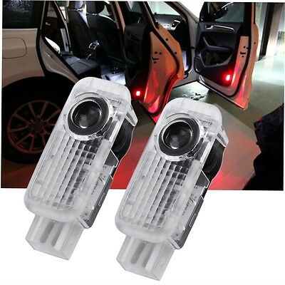 2pcs Shadow LED Car Door Logo Welcome Projector Light Lamp for Audi A4 A6 A8 HT