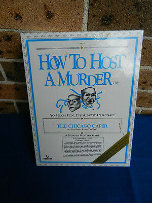 HOW TO HOST A MURDER GAME The Chicago Caper 1986 NEW