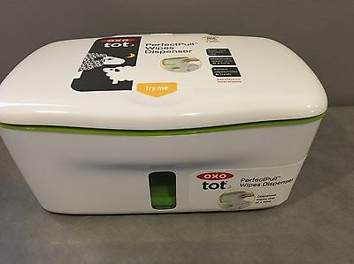Wipes Dispenser Box OXO Tot PerfectPull green doesn't latch very well