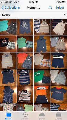 0-3 m Boys or Unisex pajamas, sleepers, outfits, Carter's, Baby Gap, sets, shirt
