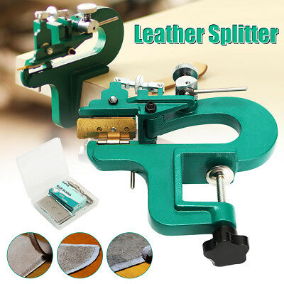 DIY Leather Edge Skiving Machine Leather Splitter Skiver Paring Machine + Blade
