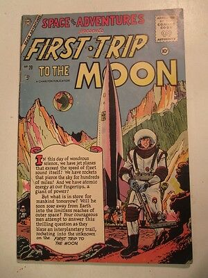 1956 Space Adventures FIRST TRIP To The MOON Comic #20 ****RARE DOUBLE COVER****