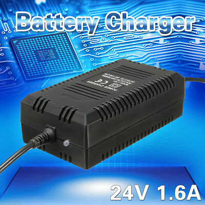 DC 24V 1.6A Amp Battery Charger for Electric Bikes E-Bike Scooters Vehicle Tool