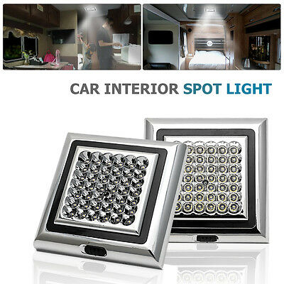2x 12V 42 LED Interior Ceiling Cabin Spot Light For Caravan Camper Boat Light UK
