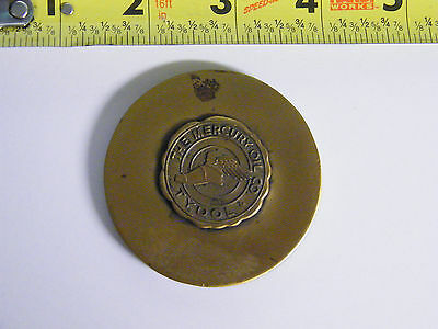 Rare Vintage The Mercury Oil Tydol  Paper Weight Nice Item