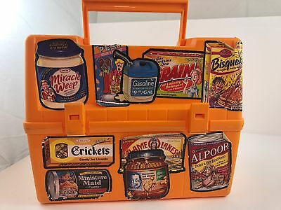 Canadian thermos lunch box 1980s stickers wacky packages Fun Retro Orange VTG