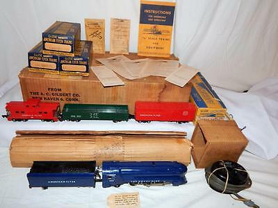 American Flyer SET 50T Royal Blue Streamline Loco Freight BOXED CLEANEST '50 B&O