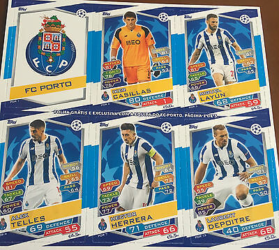 Topps Match Attax - Champions League 2016 2017  RARE F.C.PORTO update Exclusive