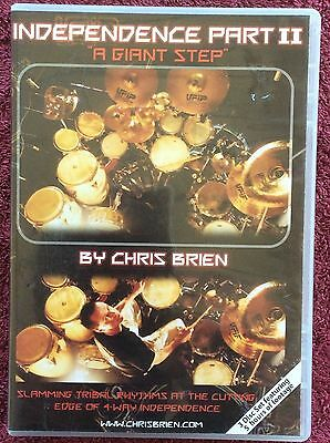 DVD INDEPENDENCE PART II A GIANT STEP Chris Brien DRUMMING SKILLS 5 HOURS OF FOO