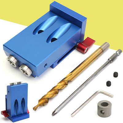 Mini Pocket Hole Jig Kit w/ Step Drill Bit Kreg Style Woodworking Joint Tool Set