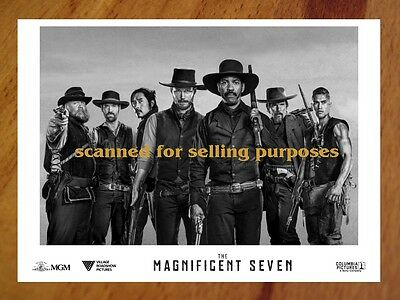 THE MAGNIFICENT SEVEN rare B&W Press Photo Set of 40 CHRIS PRATT D'Onfrio DENZEL