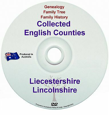 Genealogy England Leicestershire Lincolnshire books DVD