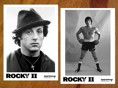 ROCKY II B&W Photo Set of 30 SYLVESTER STALLONE Sly Apollo Creed CARL WEATHERS 2