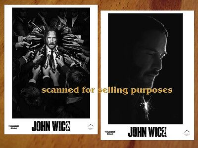 JOHN WICK Chapter 2 rare 40 still B&W press Photo Set KEANU REEVES Ian McShane