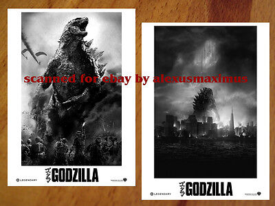GODZILLA 2014 movie rare Press Kit + 30 PHOTO SET Brian Cranston ELIZABETH OLSEN