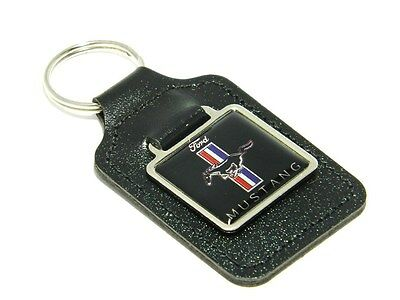 Luxury ford mustang leather keyring  key ring birthday present