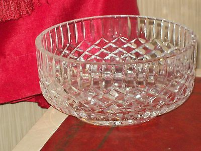 Tyrone Crystal Bowl With Base Etching Signifying A Genuine Piece Not A Second.