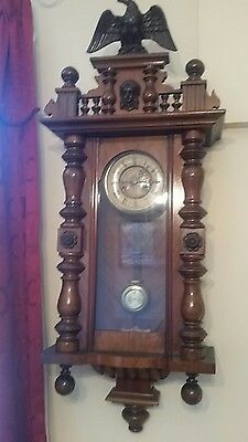 Antique Vienna  wall clock Good working order Stunning