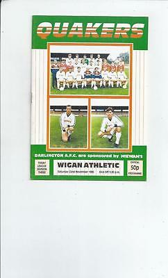 Darlington v Wigan Athletic Football Programme 1986/87