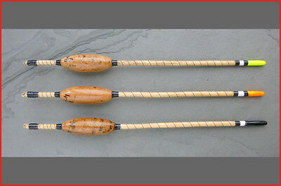 Handmade carp waggler fishing floats. Cork, 4BB (WgC)
