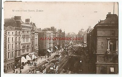 Ireland Dublin Westmoreland Street Real Photo Vintage Postcard 29.3