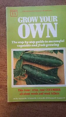 Grow Your Own CUCUMBER Vegetables Seeds Marshall Cavendish Handbook Part 11